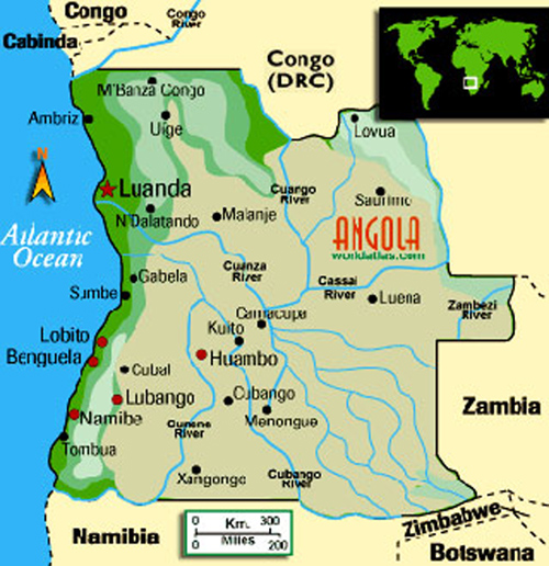 Angola Geography